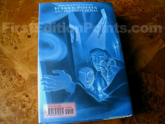 Picture of the back dust jacket for the first edition of Harry Potter and the Order of