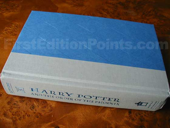 Picture of the first edition Scholastic Press boards for Harry Potter and the Order of
