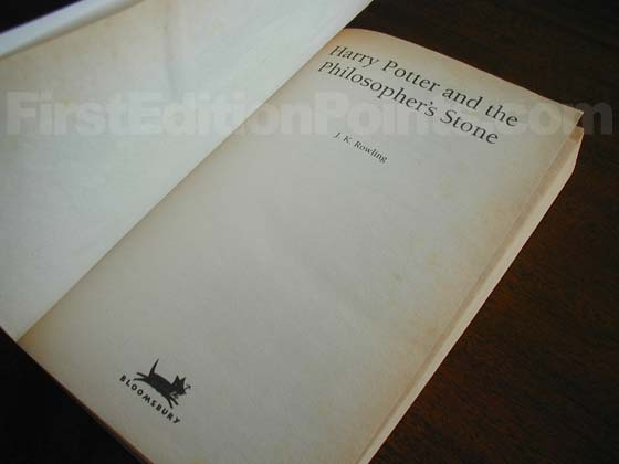 The title plage from the first edition paperback of Harry Potter and the