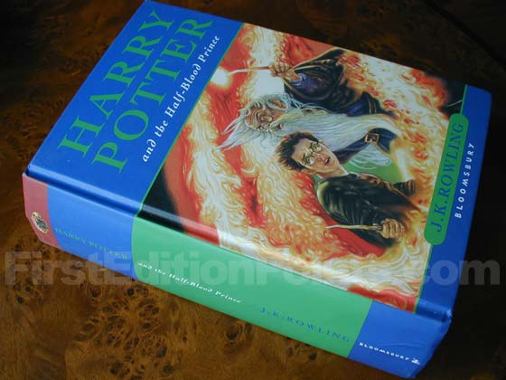 Picture of the first edition Bloomsbury boards for Harry Potter and the Half-Blood