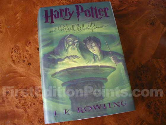 Picture of the 2005 first edition dust jacket for Harry Potter and the Half-Blood Prince