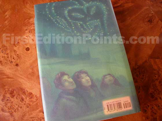 Picture of the back dust jacket for the first edition of Harry Potter and the Half-Blood