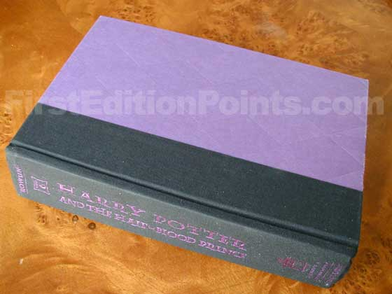 Picture of the first edition Scholastic Press boards for Harry Potter and the Half-Blood