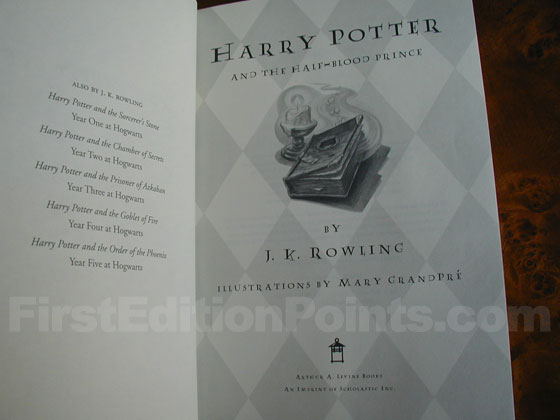Identification picture of Harry Potter and the Half-Blood Prince (U.S.).