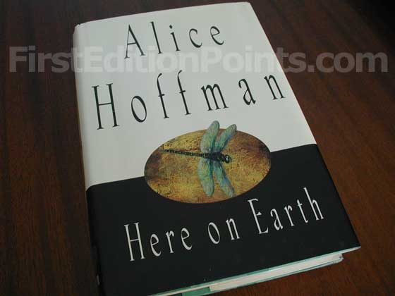 Picture of the 1997 first edition dust jacket for Here on Earth.
