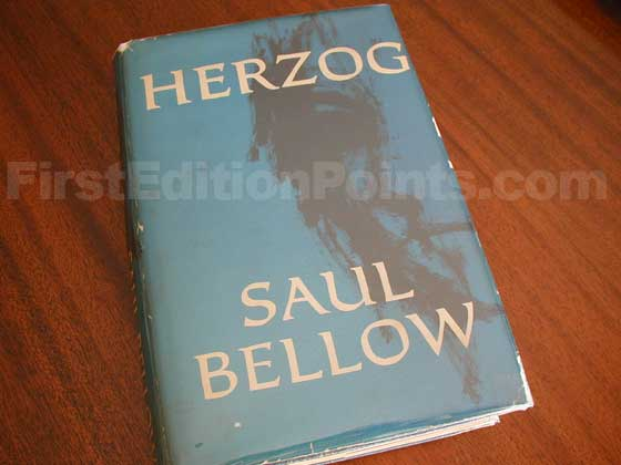 Picture of the 1964 first edition dust jacket for Herzog.