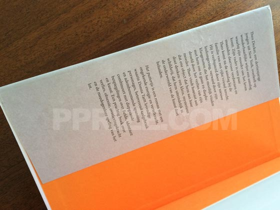 Picture of the front dust jacket flap for the first edition of Het puttertje.