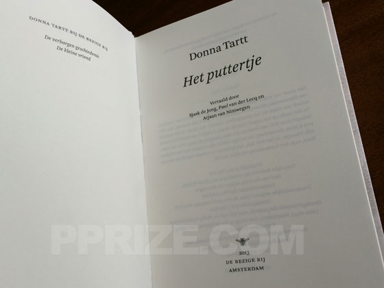 Picture of the first edition title page for Het puttertje.