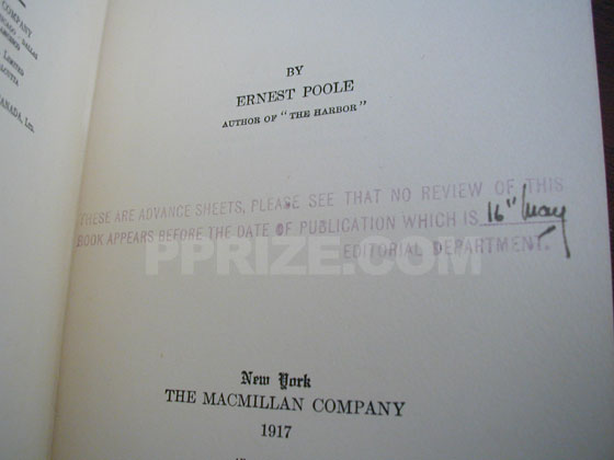The advance printing has this stamp on the title page.  It indicates that the publication