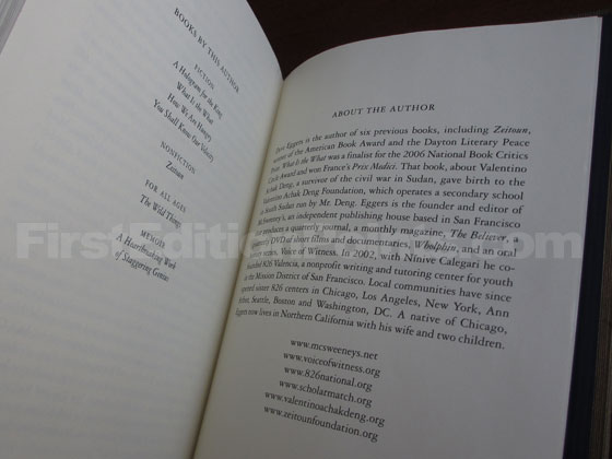 The last printed page contains information about the author.