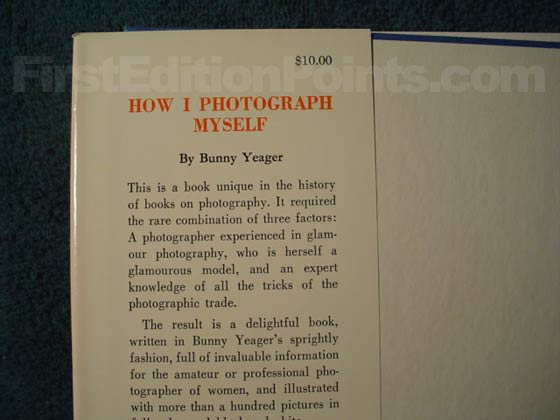 Picture of dust jacket where original $10.00 price is found for How I Photograph Myself.
