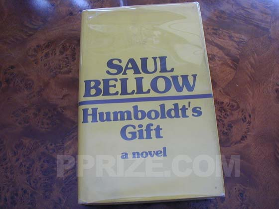 Picture of the 1975 first edition dust jacket for Humboldt's Gift.