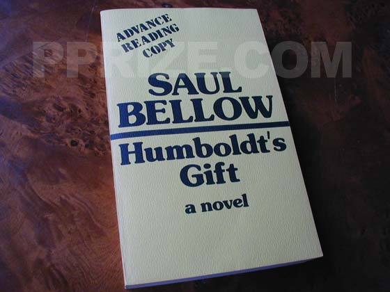 This is the front wrap of the Advance Reading Copy of Humboldt's Gift