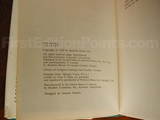 Picture of the first edition copyright page for I Can't Wait Until Tomorrow....