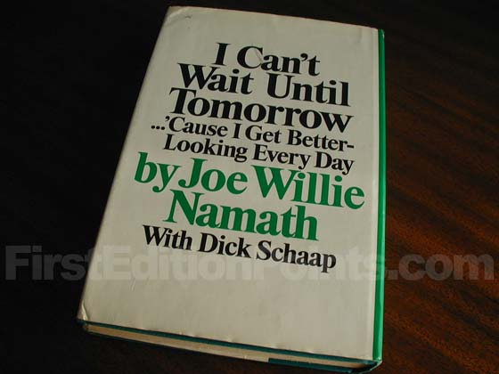 Picture of the back dust jacket for the first edition of I Can't Wait Until