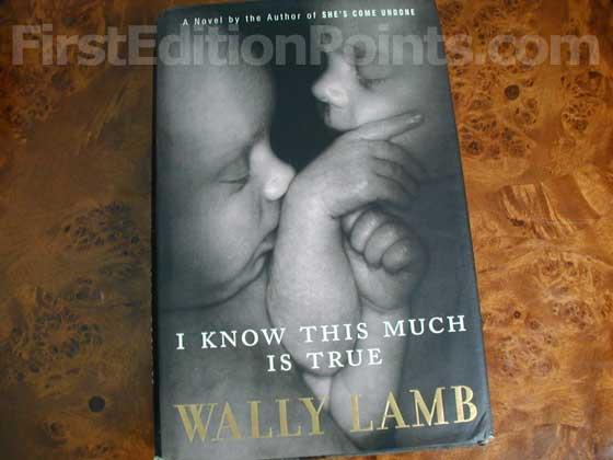 Picture of the 1998 first edition dust jacket for I Know This Much Is True.