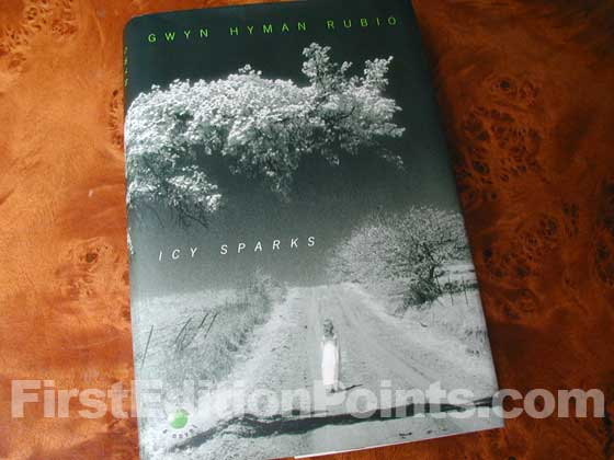 Picture of the 1998 first edition dust jacket for Icy Sparks.