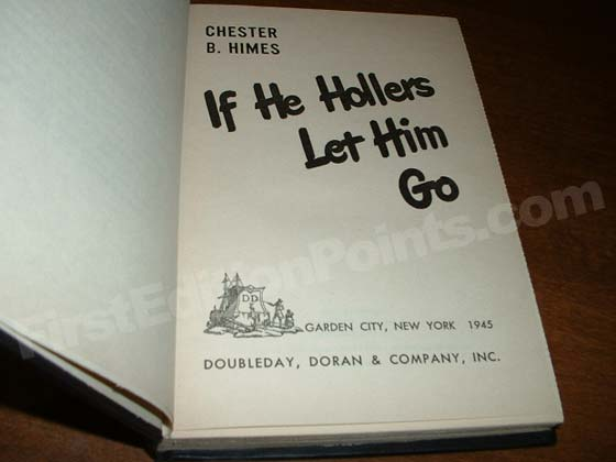 Picture of the first edition title page for If He Hollers Let Him Go.