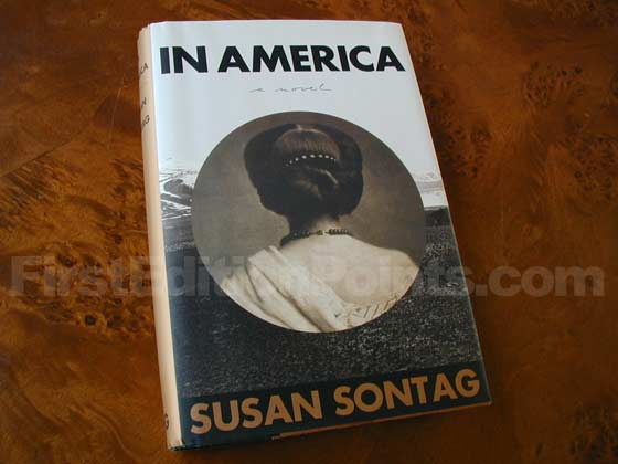 Picture of the 2000 first trade edition dust jacket for In America.