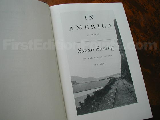 Picture of the first trade edition title page for In America.
