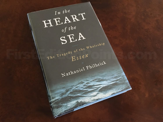Picture of the 2000 first edition dust jacket for In the Heart of the Sea.
