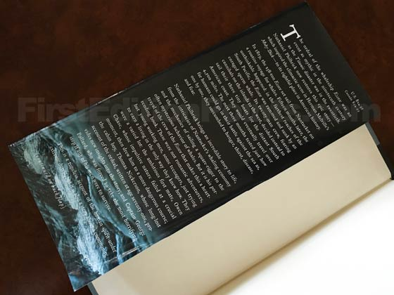 Picture of dust jacket where original $24.95 price is found for In the Heart of the Sea.