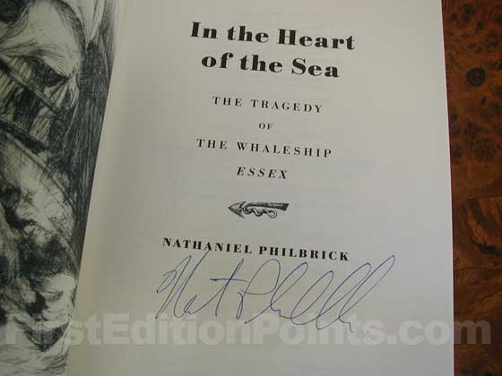 Picture of the first edition title page for In the Heart of the Sea.