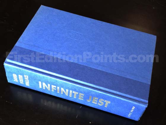 Picture of the first edition Little, Brown boards for Infinite Jest. Photo courtesy of