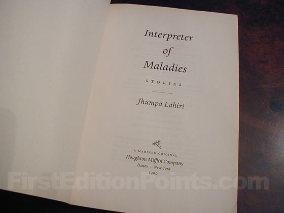 1999 is printed on the title page of the true first edition.