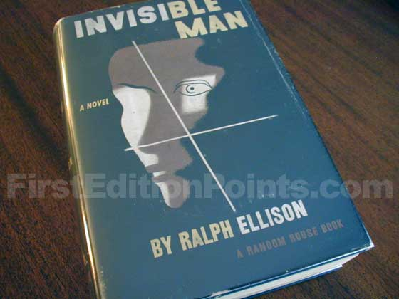 Picture of the 1952 first edition dust jacket for Invisible Man.
