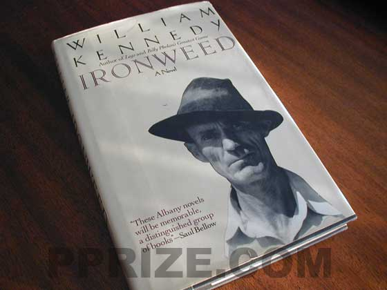 Picture of the 1983 first edition dust jacket for Ironweed.