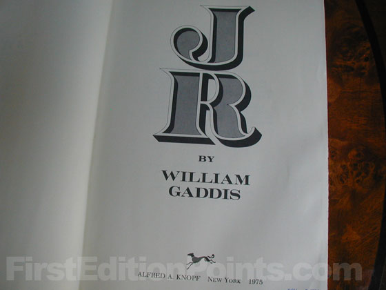 Picture of the first edition title page for J R.