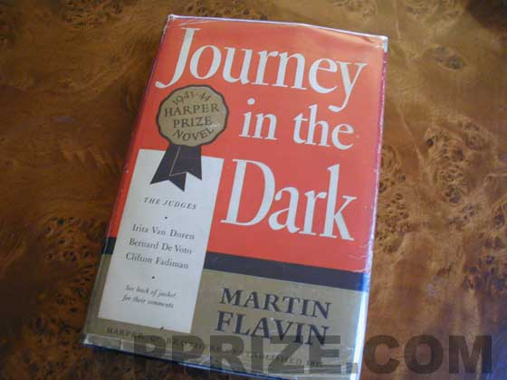 Picture of the 1943 first edition dust jacket for Journey in the Dark.