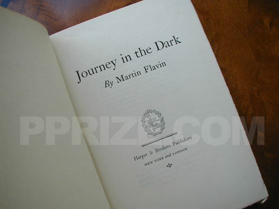 Picture of the first edition title page for Journey in the Dark.