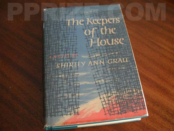 Picture of the 1964 first edition dust jacket for The Keepers of the House.