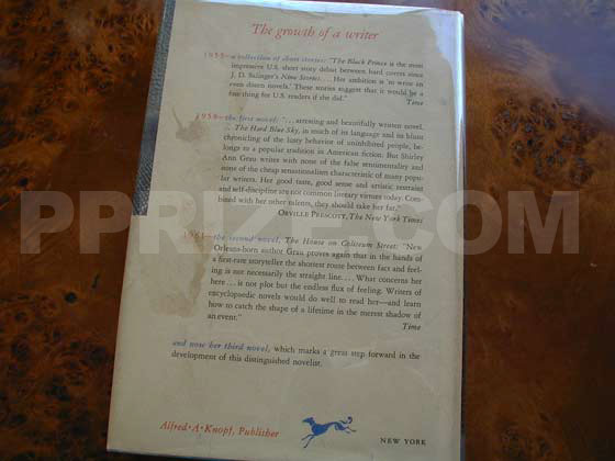Picture of the back dust jacket for the first edition of The Keepers of the House.