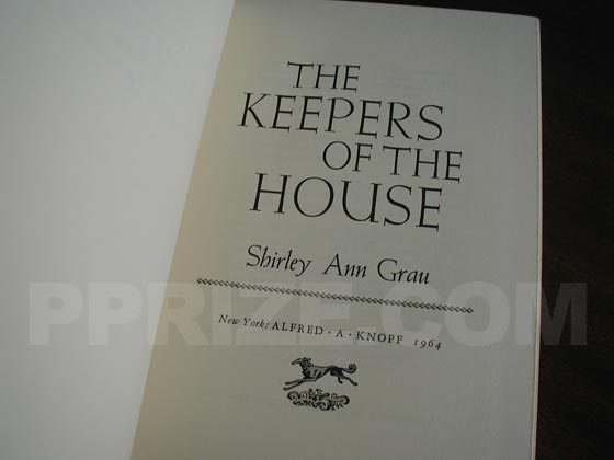 Picture of the title page for The Keepers of the House.