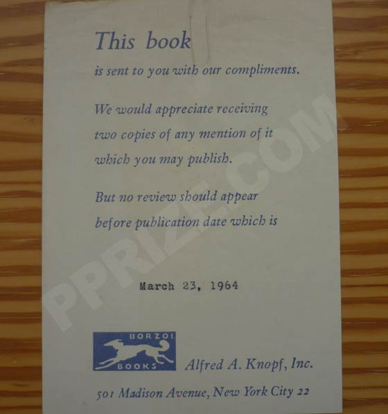 "A review slip from Shirley Ann Grau's ""The Keepers of the House"".  Photo courtesy of"