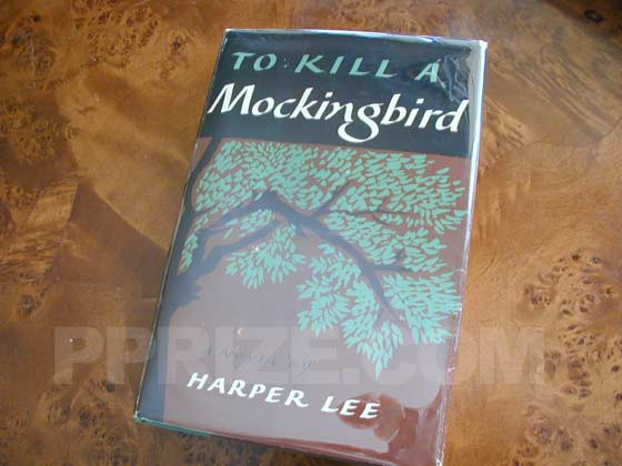 Picture of the 1960 first edition dust jacket for To Kill a Mockingbird.