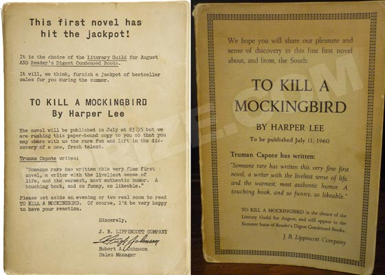 There are two variants of the advance reading copy of To Kill A Mockingbird.  The variant