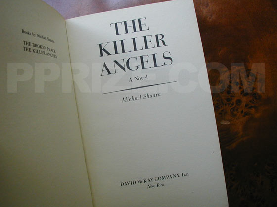 Picture of the first edition title page for The Killer Angels.