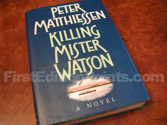 Picture of the 1990 first edition dust jacket for Killing Mister Watson.