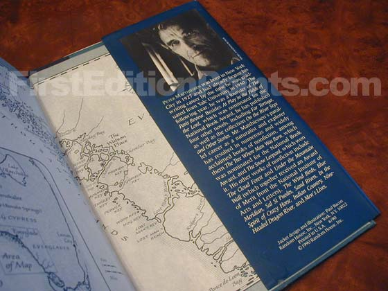 Picture of the back dust jacket flap for the first edition of Killing Mister Watson.
