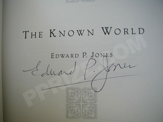 Autograph: Signature of Edward P. Jones.