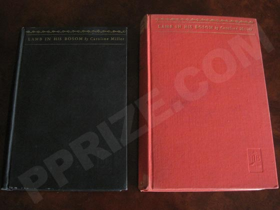 On the left is the true first edition, and on the right is a sixteenth printing.  The