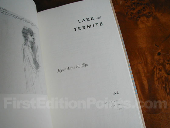 Picture of the first edition title page for Lark and Termite.