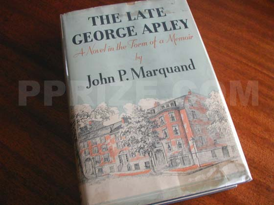Picture of the 1937 first edition dust jacket for The Late George Apley.