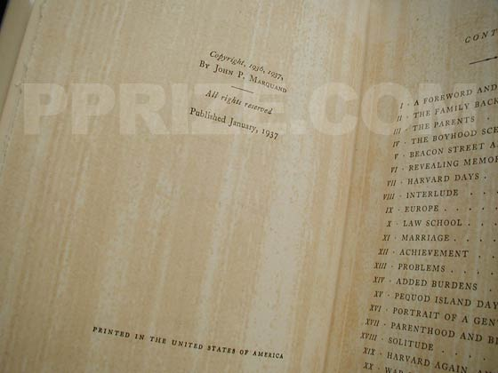 """Published January, 1937"" is stated on the copyright page.  Notice that the interior"