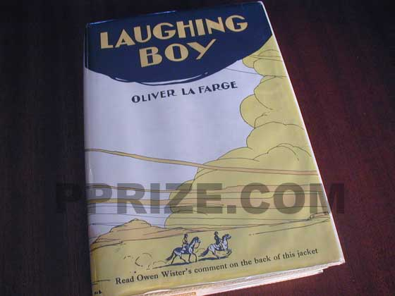 Picture of the 1929 first edition dust jacket for Laughing Boy.