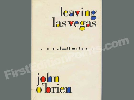 Picture of the 1990 first edition dust jacket for Leaving Las Vegas.